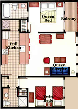 Two Bedroom Floor Plans Myrtle Beach Resort