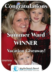 Latest Contest Winner at Myrtle Beach Resort contests